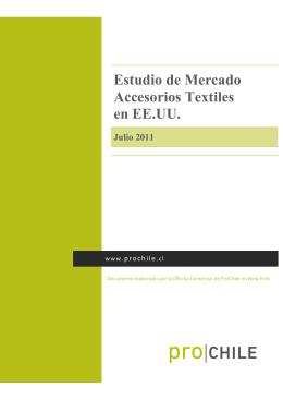 2011 Estudio de Mercado Accesorios Textiles