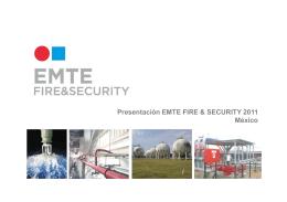 Presentación EMTE FIRE SECURITY México