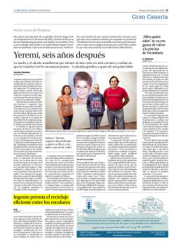 Yeremi, seis años después