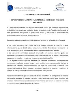 LOS IMPUESTOS EN PANAMÁ - UCCS América