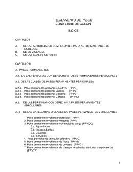 Reglamento de Pases 2014