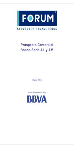 Prospecto Comercial Emisión de Bonos Forum - Serie AL y AM