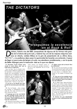 04. The Dictators. Buscamos la excelencia en el rock