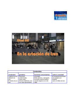 """Guia Didáctica de """"En la estacion de tren"""" Nivel A2"""
