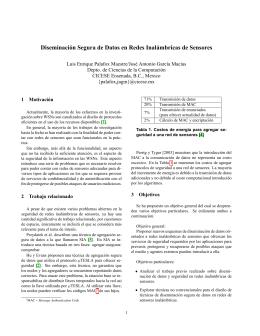 Diseminación Segura de Datos en Redes Inalámbricas de Sensores