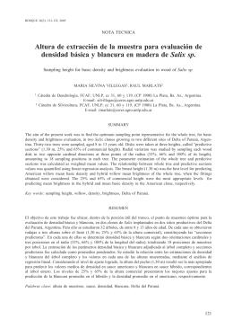 Altura de extracción de la muestra para evaluación de densidad