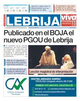 El Periódico de Lebrija