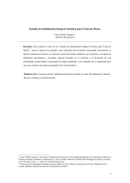 1 Estudio de Señalización Integral Turística para Costa da Morte.