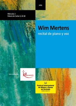Wim Mertens - Festival Internacional de Música y Danza de Granada