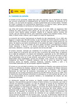 EL TURISMO EN ESPAA - Instituto Geográfico Nacional