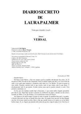 diario secreto de laura palmer - T-fal