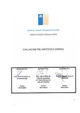 Evaluación pre-anestésica general
