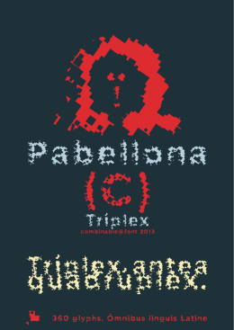 FL Font Table-Pabellona (C) Tríplex