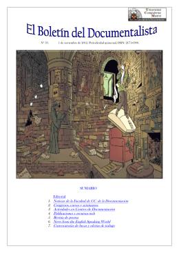 Boletín nº 59 - Facultad de Ciencias de la Documentación
