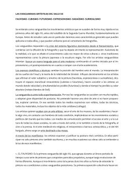 LAS VANGUARDIAS ARTISTICAS DEL SIGLO XX
