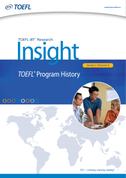 TOEFL® Program History
