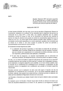 Obtención BTP - Dirección General de Tráfico