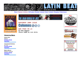 Columns - Latin Beat Magazine
