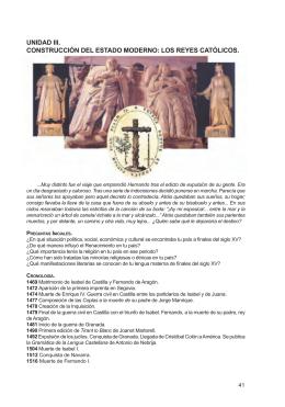 UNIDAD III. CONSTRUCCIÓN DEL ESTADO MODERNO: LOS