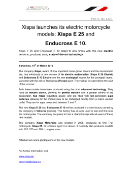 Xispa launches its electric motorcycle models: Xispa E 25 and