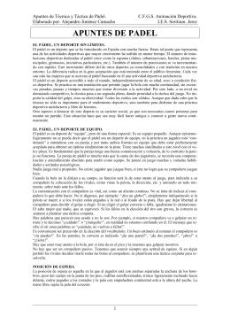 APUNTES DE PADEL