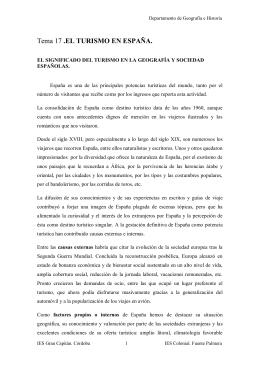 Tema 18: El turismo en España