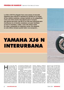 YAMAHA XJ6 N INTERURBANA