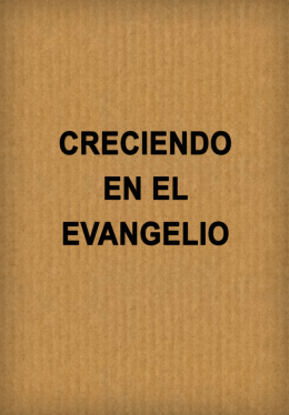 creciendo en el evangelio (1963)