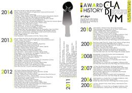 Nuestro Historial de Premios