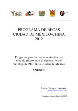 PROGRAMA DE BECAS CIUDAD DE MÉXICO-CHINA 2012