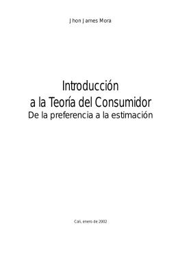 Introducción a la Teoría del Consumidor