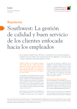 Southwest - Corporate Excellence