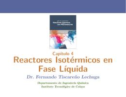 Reactores Isotérmicos en Fase L´ıquida
