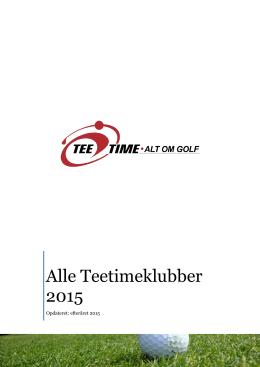 Alle Teetimeklubber 2015