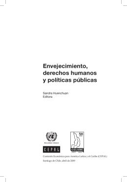 Envejecimiento, derechos humanos y políticas públicas