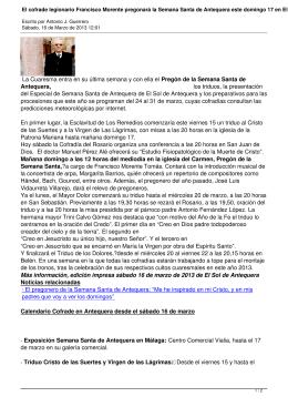 El cofrade legionario Francisco Morente pregonará la Semana