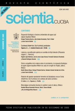 contenido - Centro Universitario de Ciencias Biológicas y