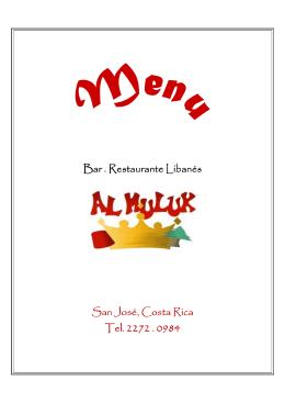 Bar . Restaurante Libanés Bar . Restaurante Libanés San José