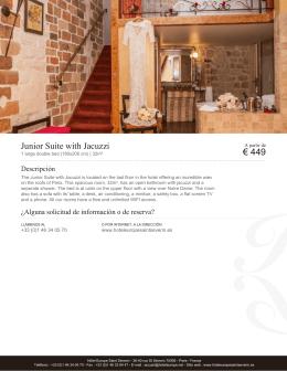Junior Suite with Jacuzzi   Habitaciones   Hôtel Europe Saint