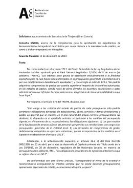 Solicitante: Ayuntamiento de Santa Lucía de Tirajana (Gran Canaria