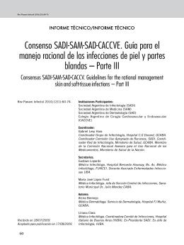 Consenso SADI-SAM-SAD-CACCVE. Guía para el manejo racional