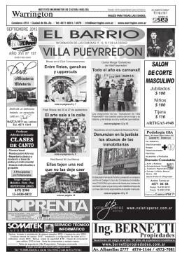 Ing. BERNETTI - El Barrio Pueyrredon