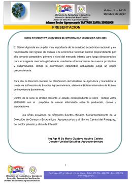 Tártago 2005/2006 - Ministerio de Agricultura y Ganadería