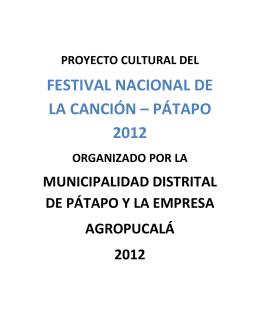FESTIVAL NACIONAL DE LA CANCIÓN – PÁTAPO 2012