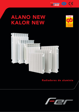 Catalogo radiador ALANO-KALOR NEW