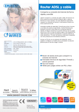 WIRED Router ADSL y cable