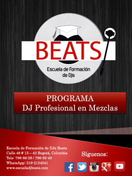 Programa: DJ Profesional en Mezclas
