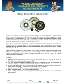 TB218 rev.0 Solid Flywheel Conversions Kits Spanish Version