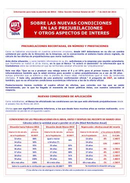 CONDICIONES DE LAS PREJUBILACIONES EN EL
