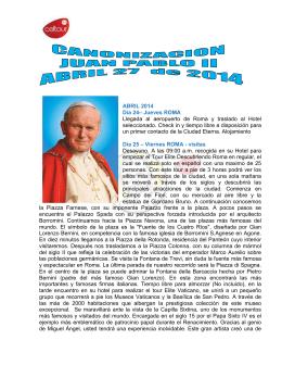 canonizacion solo roma especial Abril 2014
